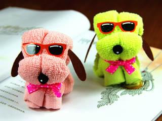 小狗造型毛巾